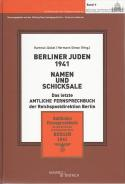 Berliner Juden 1941. Namen und Schicksale, Hartmut Jäckel, Hermann Simon, Jewish culture and contemporary history