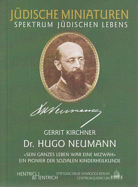 Cover Dr. Hugo Neumann, Gerrit Kirchner, Jewish culture and contemporary history