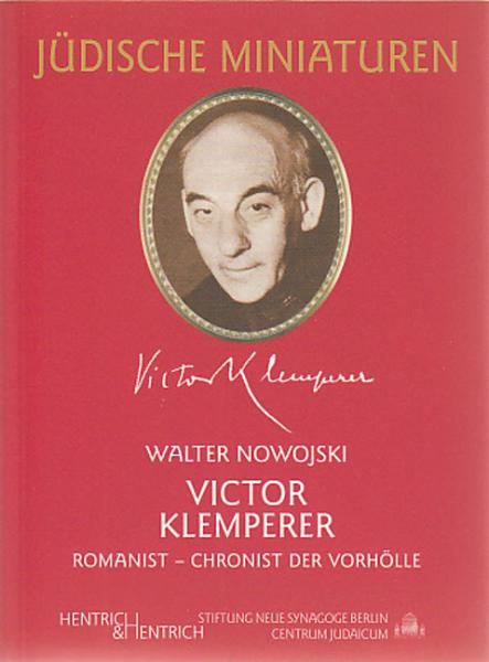 Cover Victor Klemperer, Walter Nowojski, Jewish culture and contemporary history