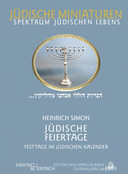 Cover Jüdische Feiertage, Heinrich Simon, Jewish culture and contemporary history