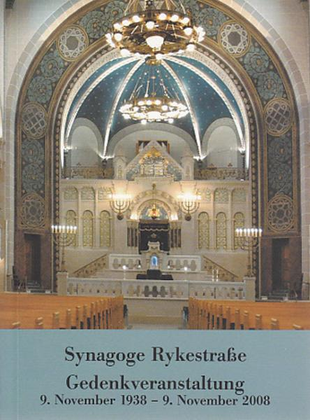 Cover Synagoge Rykestraße, Hermann Simon, Jewish culture and contemporary history