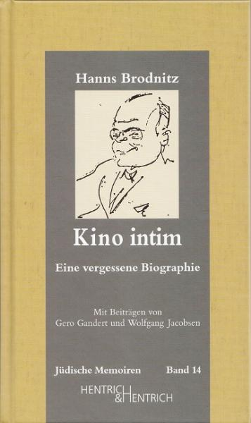 Cover Kino intim, Hanns Brodnitz, Wolfgang Jacobsen (Ed.), Jewish culture and contemporary history