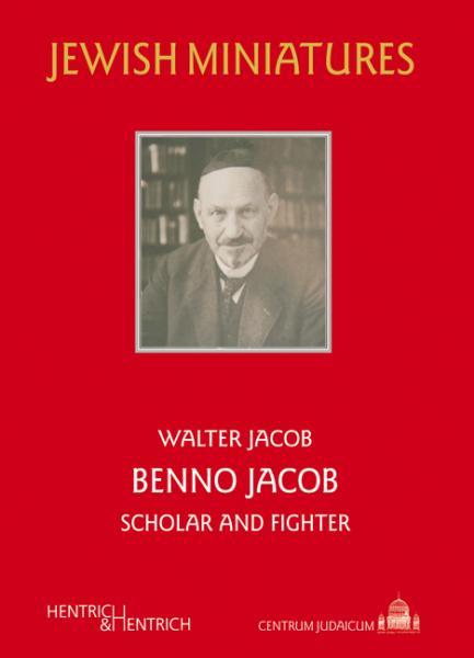 Cover Benno Jacob, Walter Jacob, Jewish culture and contemporary history