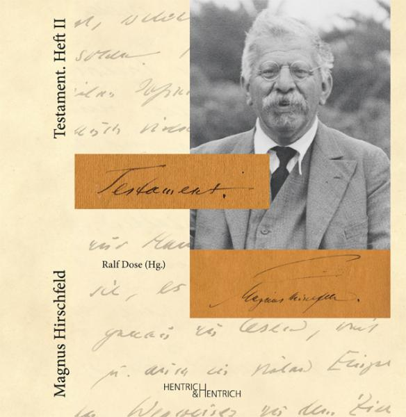 Cover Testament. Heft II, Magnus Hirschfeld, Ralf Dose (Ed.), Jewish culture and contemporary history