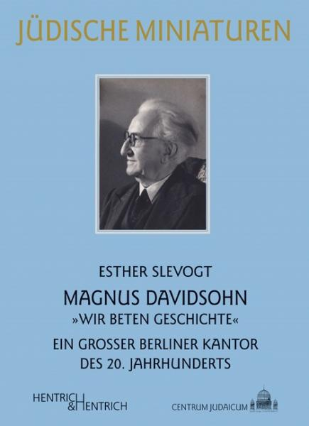 Cover Magnus Davidsohn, Esther Slevogt, Louis Lewandowski  Festival (Ed.), Jewish culture and contemporary history