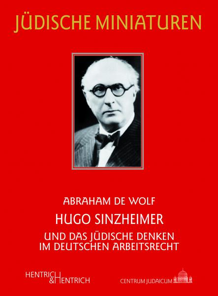 Cover Hugo Sinzheimer, Abraham de Wolf, Jewish culture and contemporary history