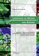 Language as Bridge and Border, Sabine Sander (Ed.), Jewish culture and contemporary history