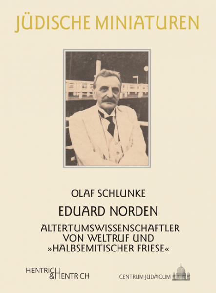 Cover Eduard Norden, Olaf Schlunke, Jewish culture and contemporary history