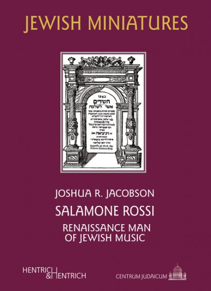Cover Salamone Rossi, Joshua R.  Jacobson, Louis Lewandowski  Festival (Ed.), Jewish culture and contemporary history