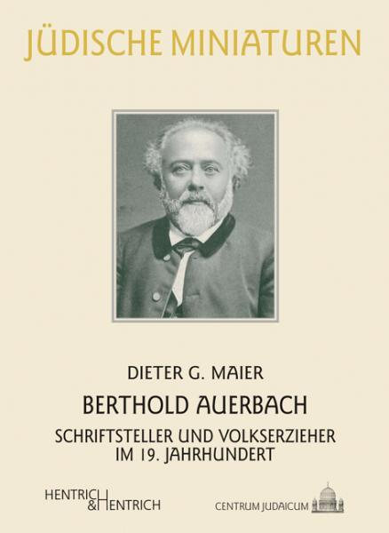 Cover Berthold Auerbach, Dieter G. Maier, Jewish culture and contemporary history
