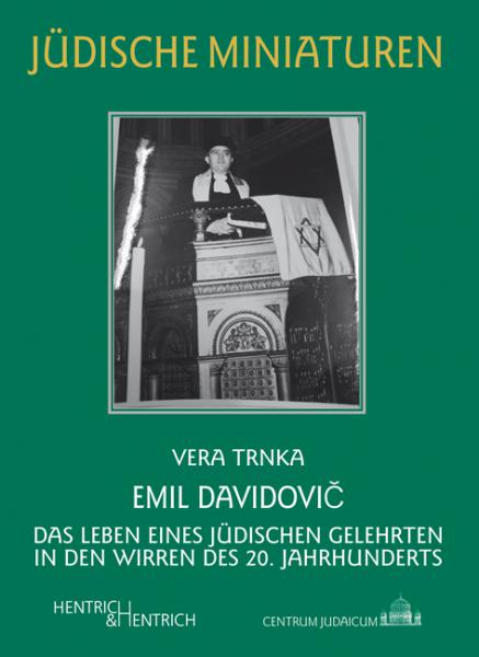 Cover Emil Davidovič, Vera Trnka, Jewish culture and contemporary history