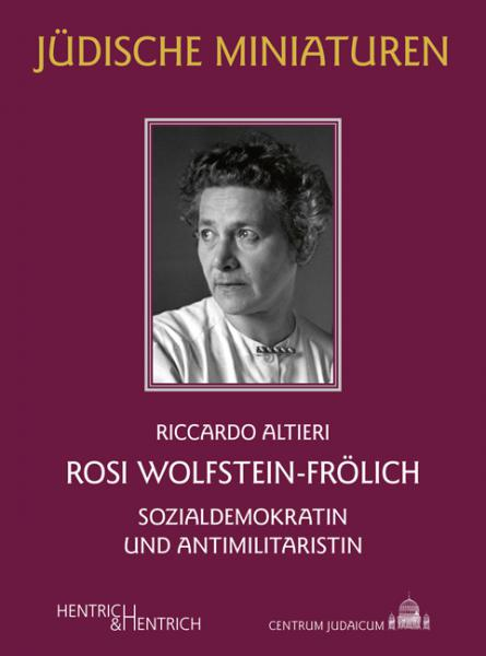 Cover Rosi Wolfstein-Frölich , Riccardo Altieri, Jewish culture and contemporary history